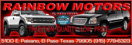 El paso auto deals el paso texas for Rainbow motors el paso tx